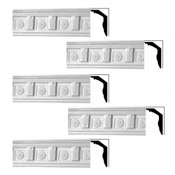 <PRE>Renovator's Supply Cornice White Urethane Tyrese Ornate Design 5 Pieces Totaling 373.75inch Length</PRE>zoom1