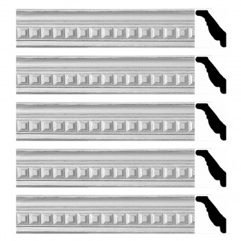 <PRE>Renovator's Supply Ornate Cornice White Urethane Amelia Ornate  5 Pieces Totaling 473.75inch Length</PRE>zoom1