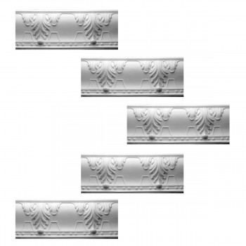 <PRE>Renovator's Supply Cornice White Urethane Autumn Melody Design 5 Pieces Totaling 396.875inch Length</PRE>zoom1