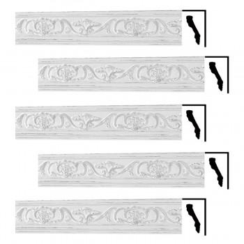 <PRE>Renovator's Supply Ornate Cornice White Urethane Sandoval Design 5 Pieces Totaling 426.875inch Length</PRE>zoom1