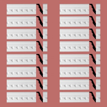 Renovators Supply Ornate Cornice White Urethane Golfini Design 16 Pieces Totaling 1512 Length White PrePrimed Urethane Crown Cornice Molding Cornice Crown Home Depot Ekena Millwork Molding Wall Ceiling Corner Cornice Crown Cove Molding