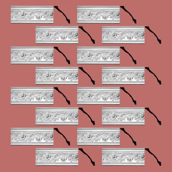 Renovators Supply Cornice White Urethane Bridge Of Flowers Ornate  16 Pieces Totaling 1232 Length White PrePrimed Urethane Crown Cornice Molding Cornice Crown Home Depot Ekena Millwork Molding Wall Ceiling Corner Cornice Crown Cove Molding