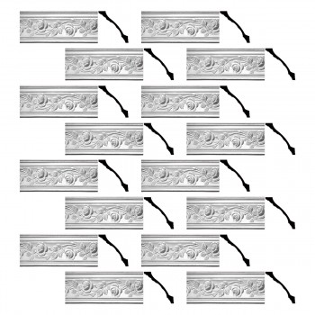 <PRE>Renovator's Supply Cornice White Urethane Bridge Of Flowers Ornate  16 Pieces Totaling 1232inch Length</PRE>zoom1