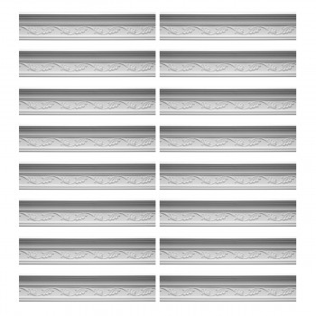 Renovators Supply Cornice White Urethane Whitehead Ornate Design 16 Pieces Totaling 1538 Length White PrePrimed Urethane Crown Cornice Molding Cornice Crown Home Depot Ekena Millwork Molding Wall Ceiling Corner Cornice Crown Cove Molding