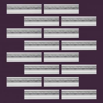<PRE>Renovator's Supply Cornice White Urethane Adams Ornate Design 16 Pieces Totaling 1536inch Length</PRE>zoom2