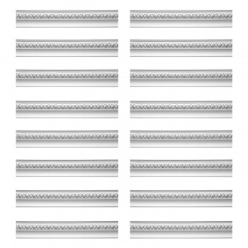 Renovators Supply Cornice White Urethane Hayes Ornate Design 16 Pieces Totaling 1504 Length White PrePrimed Urethane Crown Cornice Molding Cornice Crown Home Depot Ekena Millwork Molding Wall Ceiling Corner Cornice Crown Cove Molding