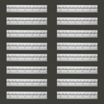 <PRE>Renovator's Supply Cornice White Urethane Hopkins Ornate Design 16 Pieces Totaling 1528inch Length</PRE>zoom2
