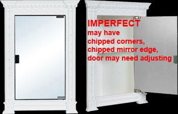 spec-<PRE>Corner Cabinets White Urethane Foam Damaged </PRE>