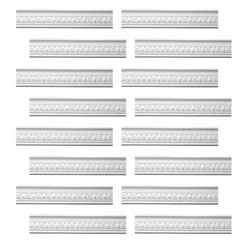 Renovators Supply Ornate White Urethane Foam Emperial Cornice  16 Pieces Totaling 1514 Length White PrePrimed Urethane Crown Cornice Molding Cornice Crown Home Depot Ekena Millwork Molding Wall Ceiling Corner Cornice Crown Cove Molding