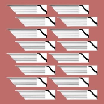 <PRE>Renovator's Supply Cornice White Urethane Princess Anne  Design 16 Pieces Totaling 1504inch Length</PRE>zoom2