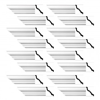 <PRE>Renovator's Supply Cornice White Urethane Bennington Simple Design 16 Pieces Totaling 1504inch Length</PRE>zoom1