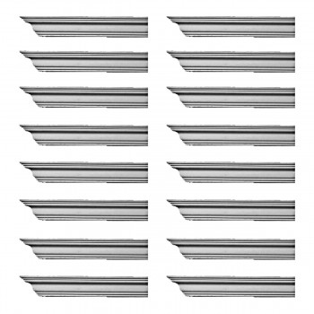 <PRE>Renovator's Supply Cornice White Urethane Bellington Simple Design 16 Pieces Totaling 1536inch Length</PRE>zoom1
