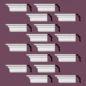 <PRE>Renovator's Supply  Ornate Cornice White Urethane Design 16 Pieces Totaling 1504inch Length</PRE>zoom2