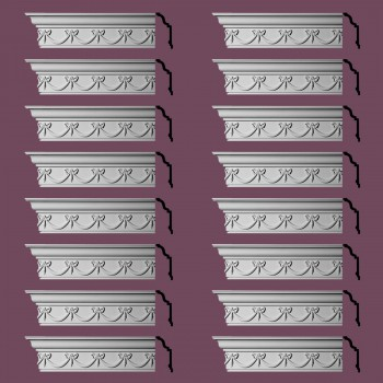 Renovators Supply Ornate Cornice White Urethane Hastings On Hudson  16 Pieces Totaling 1536 Length White PrePrimed Urethane Crown Cornice Molding Cornice Crown Home Depot Ekena Millwork Molding Wall Ceiling Corner Cornice Crown Cove Molding