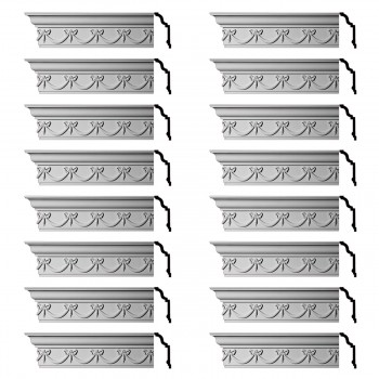 <PRE>Renovator's Supply Ornate Cornice White Urethane Hastings On Hudson  16 Pieces Totaling 1536inch Length</PRE>zoom1