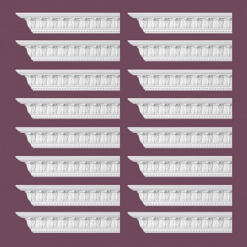 <PRE>Renovator's Supply Ornate Cornice White Urethane Haverford Design 16 Pieces Totaling 1536inch Length</PRE>zoom2