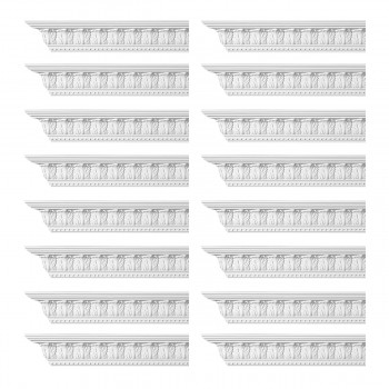 <PRE>Renovator's Supply Ornate Cornice White Urethane Haverford Design 16 Pieces Totaling 1536inch Length</PRE>zoom1