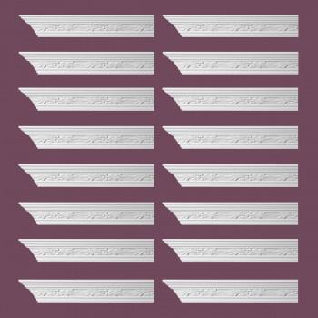 <PRE>Renovator's Supply Ornate Cornice White Urethane Wednesbury Design 16 Pieces Totaling 1536inch Length</PRE>zoom2