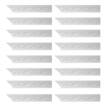 Renovators Supply Ornate Cornice White Urethane Wednesbury Design 16 Pieces Totaling 1536 Length White PrePrimed Urethane Crown Cornice Molding Cornice Crown Home Depot Ekena Millwork Molding Wall Ceiling Corner Cornice Crown Cove Molding
