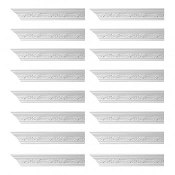 <PRE>Renovator's Supply Ornate Cornice White Urethane Wednesbury Design 16 Pieces Totaling 1536inch Length</PRE>zoom1