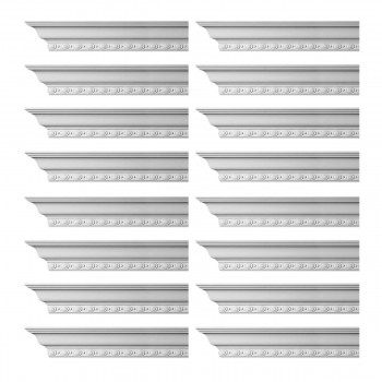 <PRE>Renovator's Supply Cornice White Urethane Exeter Ornate Design 16 Pieces Totaling 1536inch Length</PRE>zoom1