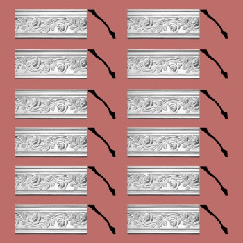 <PRE>Renovator's Supply Cornice White Urethane Bridge Of Flowers Ornate  12 Pieces Totaling 924inch Length</PRE>zoom2