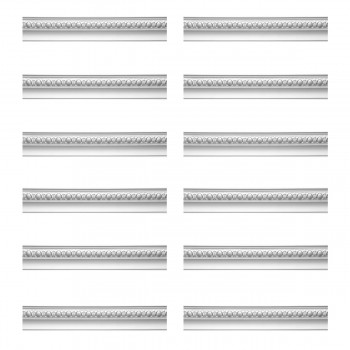 Renovators Supply Cornice White Urethane Hayes Ornate Design 12 Pieces Totaling 1128 Length White PrePrimed Urethane Crown Cornice Molding Cornice Crown Home Depot Ekena Millwork Molding Wall Ceiling Corner Cornice Crown Cove Molding