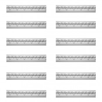 Renovators Supply Cornice White Urethane Hopkins Ornate Design 12 Pieces Totaling 1146 Length White PrePrimed Urethane Crown Cornice Molding Cornice Crown Home Depot Ekena Millwork Molding Wall Ceiling Corner Cornice Crown Cove Molding