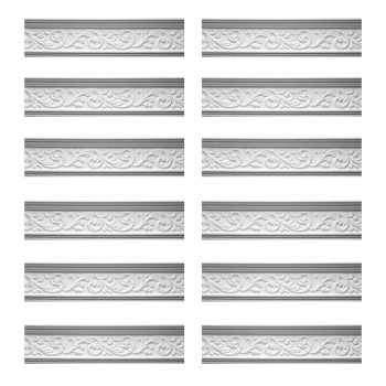 <PRE>Renovator's Supply Cornice White Urethane Somber Water Design 12 Pieces Totaling 943.5inch Length</PRE>zoom1