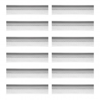 Renovators Supply Ornate Cornice White Urethane Sommet Design 12 Pieces Totaling 994.5 Length White PrePrimed Urethane Crown Cornice Molding Cornice Crown Home Depot Ekena Millwork Molding Wall Ceiling Corner Cornice Crown Cove Molding