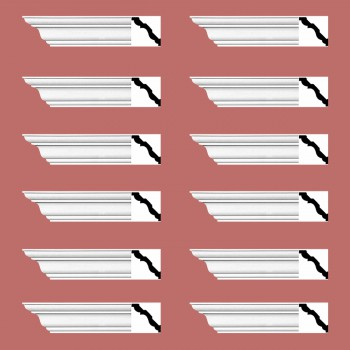 <PRE>Renovator's Supply Cornice White Urethane Montmarnes Simple Design 12 Pieces Totaling 1128inch Length</PRE>zoom2