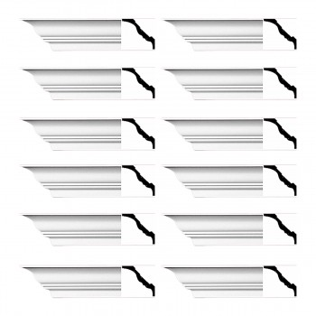 <PRE>Renovator's Supply Cornice White Urethane Princess Anne  Design 12 Pieces Totaling 1128inch Length</PRE>zoom1
