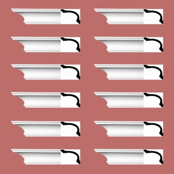 <PRE>Renovator's Supply Cornice White Urethane Asheville Simple Design 12 Pieces Totaling 1128inch Length</PRE>zoom2
