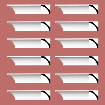 Renovators Supply Cornice White Urethane Bloomington Simple Design 12 Pieces Totaling 1152 Length White PrePrimed Urethane Crown Cornice Molding Cornice Crown Home Depot Ekena Millwork Molding Wall Ceiling Corner Cornice Crown Cove Molding