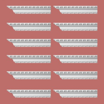 <PRE>Renovator's Supply Ornate Cornice White Urethane Brewster Design 12 Pieces Totaling 1152inch Length</PRE>zoom2
