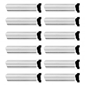 <PRE>Renovator's Supply Cornice White Urethane Alison Simple Design 12 Pieces Totaling 1128inch Length</PRE>zoom1