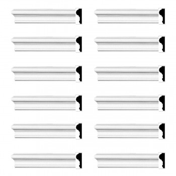 Renovators Supply Cornice White Urethane Simple Design 12 Pieces Totaling 1152 Length White PrePrimed Urethane Crown Cornice Molding Cornice Crown Home Depot Ekena Millwork Molding Wall Ceiling Corner Cornice Crown Cove Molding