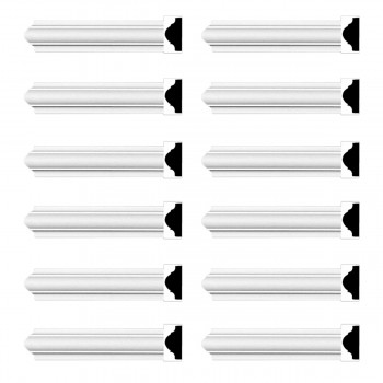 Renovators Supply Cornice White Urethane Simple Design 12 Pieces Totaling 1140 Length White PrePrimed Urethane Crown Cornice Molding Cornice Crown Home Depot Ekena Millwork Molding Wall Ceiling Corner Cornice Crown Cove Molding