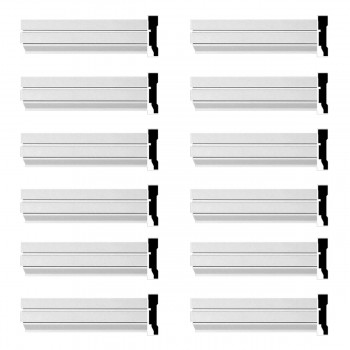 Renovators Supply Crown Molding White Urethane Cherbourg  Design 12 Pieces Totaling 1152 Length White PrePrimed Urethane Crown Cornice Molding Cornice Crown Home Depot Ekena Millwork Molding Wall Ceiling Corner Cornice Crown Cove Molding