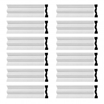 <PRE>Renovator's Supply Crown Molding White Urethane Wellfleet  Design 12 Pieces Totaling 1152inch Length</PRE>zoom1