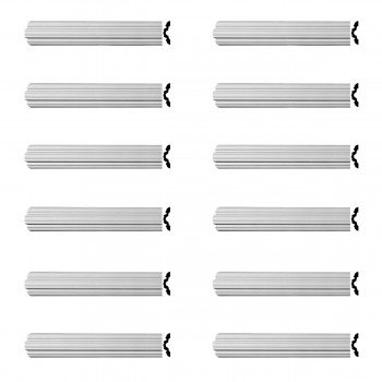 Renovators Supply Crown Molding Urethane Fall River Simple Design 12 Pieces Totaling 1152 Length White PrePrimed Urethane Crown Cornice Molding Cornice Crown Home Depot Ekena Millwork Molding Wall Ceiling Corner Cornice Crown Cove Molding