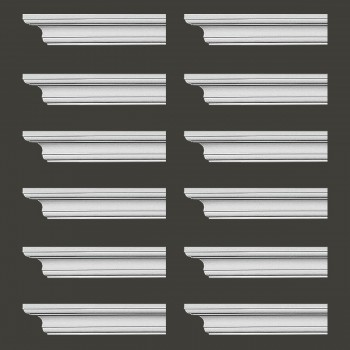 <PRE>Renovator's Supply Cornice White Urethane Ipswich Simple Design 12 Pieces Totaling 1128inch Length</PRE>zoom2