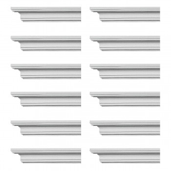 <PRE>Renovator's Supply Cornice White Urethane Ipswich Simple Design 12 Pieces Totaling 1128inch Length</PRE>zoom1