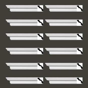 <PRE>Renovator's Supply Cornice White Urethane Marblehead Simple Design 12 Pieces Totaling 1128inch Length</PRE>zoom2