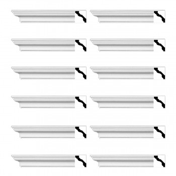 <PRE>Renovator's Supply Cornice White Urethane Marblehead Simple Design 12 Pieces Totaling 1128inch Length</PRE>zoom1