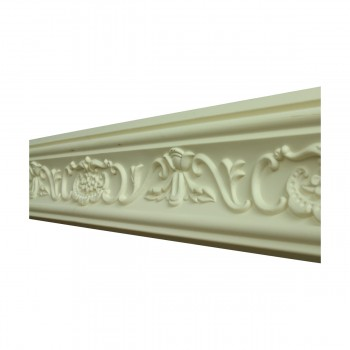 Renovators Supply Ornate Cornice White Urethane Lake Oswego Design 12 Pieces Totaling 1131 Length White PrePrimed Urethane Crown Cornice Molding Cornice Crown Home Depot Ekena Millwork Molding Wall Ceiling Corner Cornice Crown Cove Molding