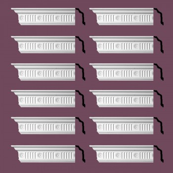 <PRE>Renovator's Supply  Ornate Cornice White Urethane Design 12 Pieces Totaling 1152inch Length</PRE>zoom2