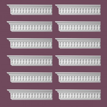 Renovators Supply Ornate Cornice White Urethane Wetherby Design 12 Pieces Totaling 1152 Length White PrePrimed Urethane Crown Cornice Molding Cornice Crown Home Depot Ekena Millwork Molding Wall Ceiling Corner Cornice Crown Cove Molding