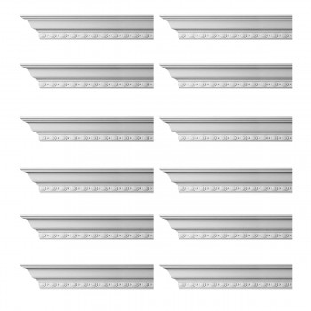 <PRE>Renovator's Supply Cornice White Urethane Exeter Ornate Design 12 Pieces Totaling 1152inch Length</PRE>zoom1