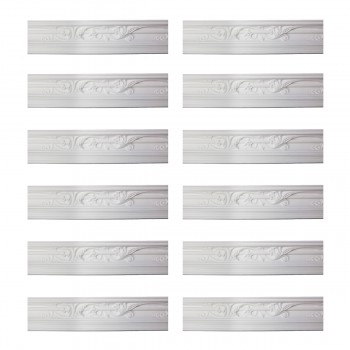 Renovators Supply Cornice White Urethane Julia Ornate Design 12 Pieces Totaling 1122 Length White PrePrimed Urethane Crown Cornice Molding Cornice Crown Home Depot Ekena Millwork Molding Wall Ceiling Corner Cornice Crown Cove Molding